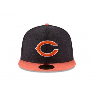 Chicago Bears New Era 59FIFTY Heather Action Flat Brim Fitted Hat