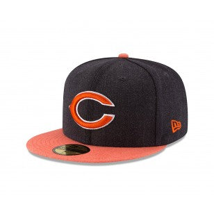 Chicago Bears New Era 59FIFTY Heather Action Flat Brim Hat