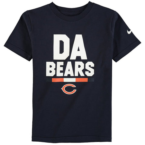 Youth Nike Navy Chicago Bears Verbiage T-Shirt