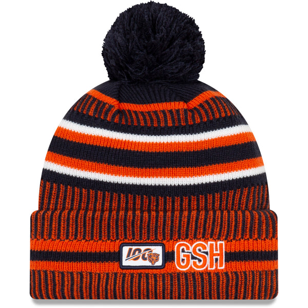 Chicago Bears New Era Navy/Orange 2019 NFL Sideline Home Official Historic Logo Sport Knit Hat
