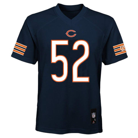 Chicago Bears NFL Team Apparel Youth Khalil Mack #52 Navy Jersey
