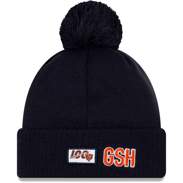 Chicago Bears Men's New Era 2019 NFL Sideline Road Historic Logo Sport Knit Winter Hat - Navy