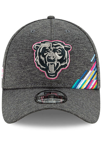 New Era Chicago Bears Adult's Grey 2019 Crucial Catch 39THIRTY Flex Hat