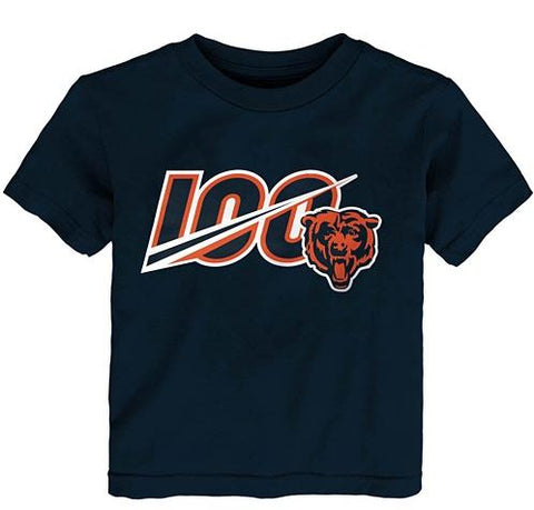 Chicago Bears Youth Infants/Toddler 100 Year Screen Print T-Shirt - Navy