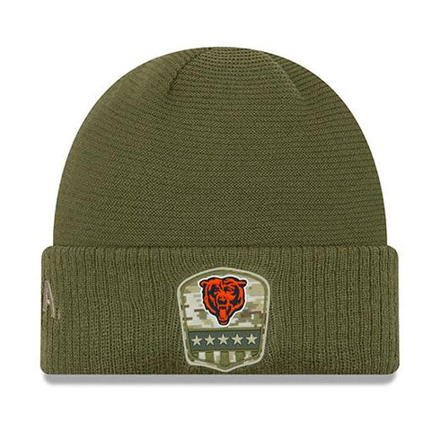 Chicago Bears Men's 2019 Salute to Service Knit Winter Hat - Green