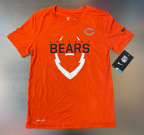 Youth Chicago Bears Nike DRI-FIT Short Sleeve Shirt -Orange