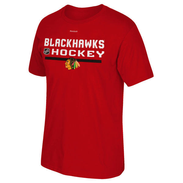 Chicago Blackhawks Youth NHL Official Reebok Red T-Shirt