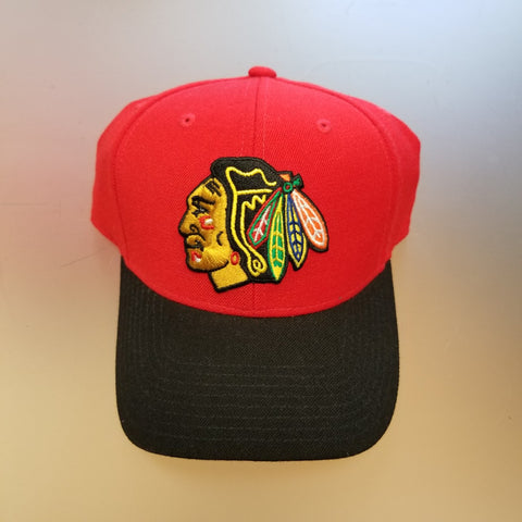 Chicago Blackhawks CCM Structured Adjustable 2 Toned Hat - Red/Black