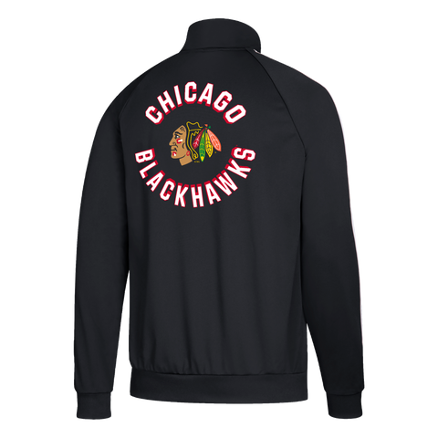 Chicago Blackhawks Men's Adidas Climalite Softshell Zip Up Jacket - Black