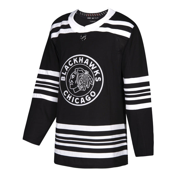 Chicago Blackhawks Men's adidas Alternate Plain Jersey - Black
