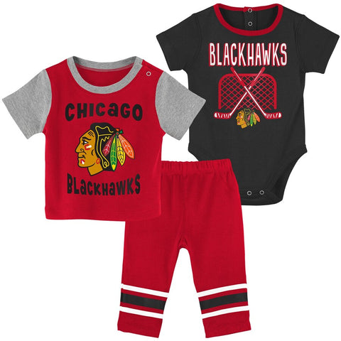 Chicago Blackhawks 3-Peice Infant Shirt, Pants & Creeper Set