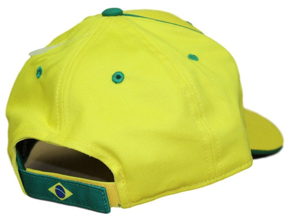 Men's Brasil Hat Yellow Brazil World Cup Cap Embroidered Football Soccer
