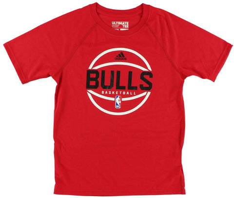 Adidas Chicago Bulls Ultimate S/S NBA Fan Basketball Tee - Red - Youth Kids