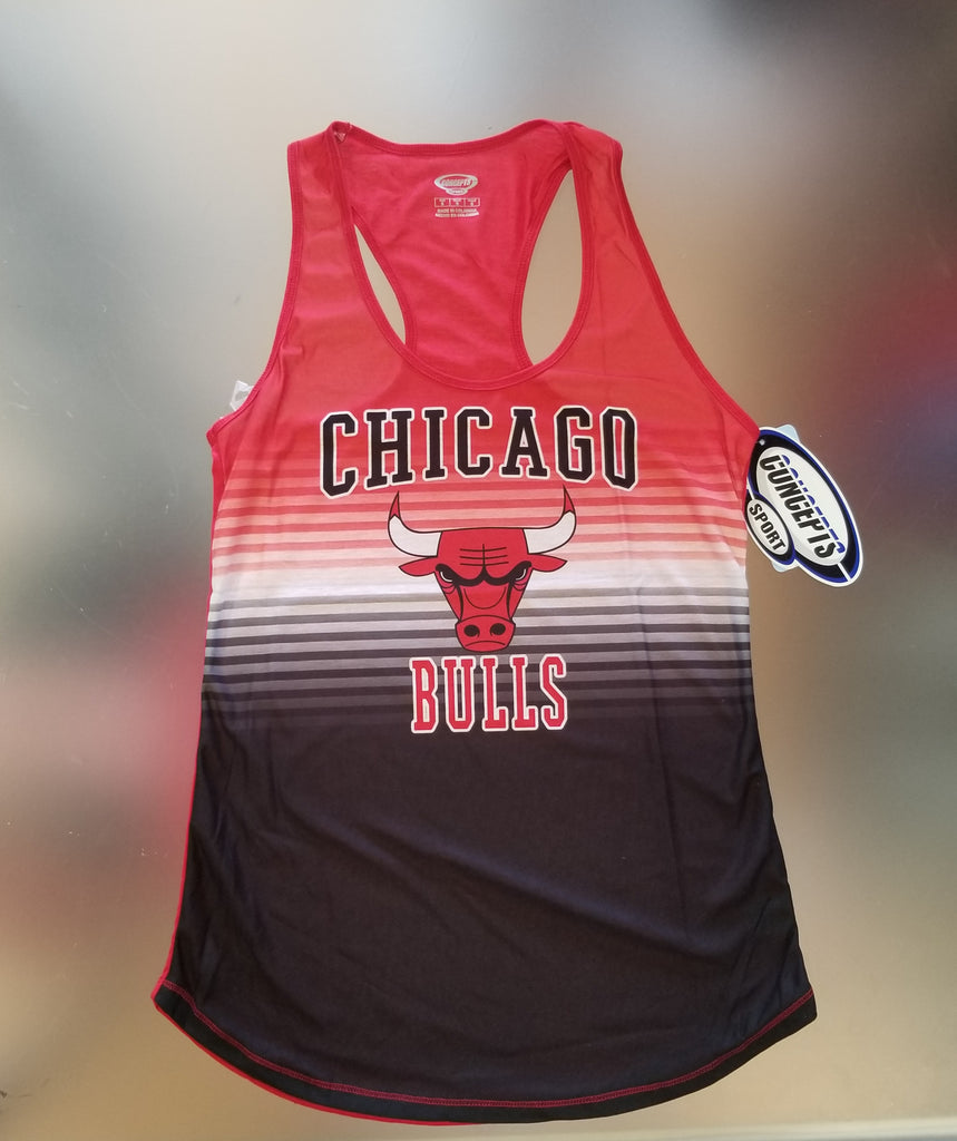 Chicago Bulls Women's Red Striped Racer Back Tank Top