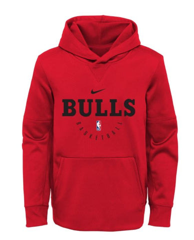 NBA Nike Chicago Bulls Youth Red Spotlight Performance Hoodie