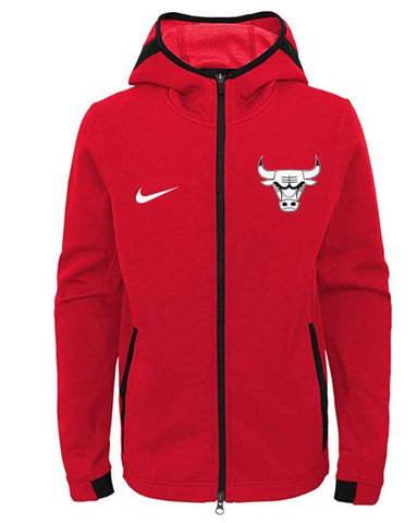 Chicago Bulls NBA Nike Youth Showtime Full Zip Up Hoodie -Red