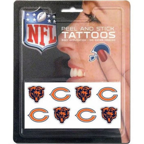 Chicago Bears NFL RICO Industries Peel and Stick Tattoos