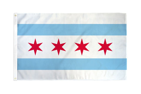Chicago Windy City Economy 3' x 5' House Lawn Decorative City of Chicago Flag