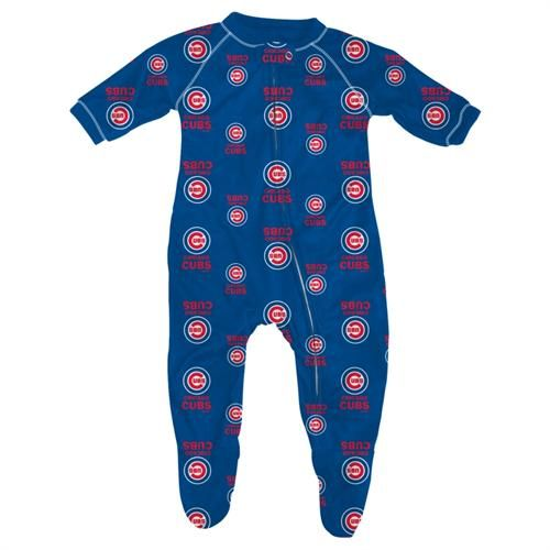 Chicago Cubs Child One Piece Footie Pajamas Zip Up