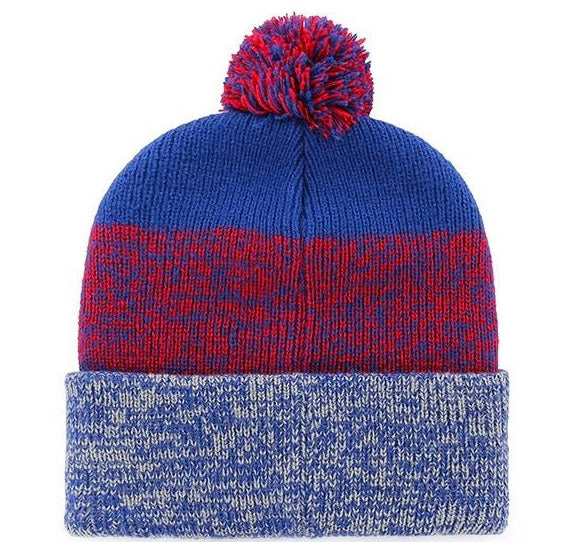 Chicago Cubs Men's 47 Brand Embroidered Puff Ball Knit Winter Hat - Blue/Red