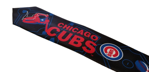 Chicago Cubs Ralph Marlin Black and Red Batter Up Tie