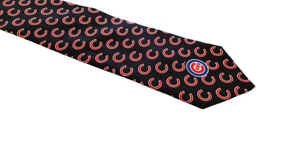 Chicago Cubs Ralph Marlin Black 100% Silk Tie