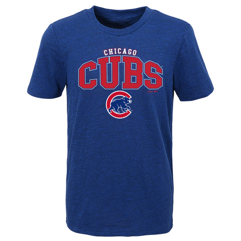 Chicago Cubs Youth Crew Neck Hustle T-Shirt Royal Blue