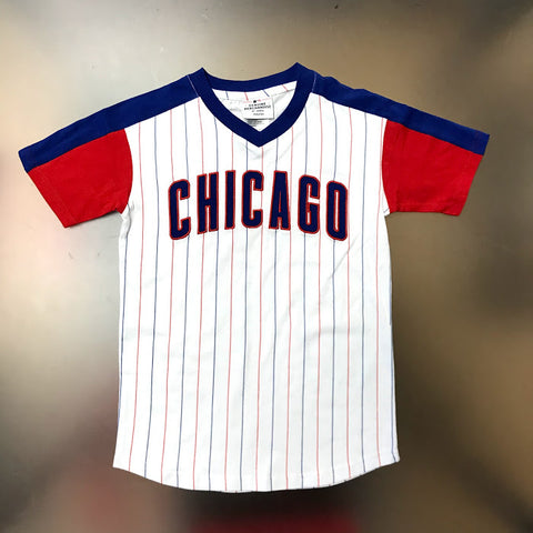Chicago Cubs Pinstripe Youth T-Shirt
