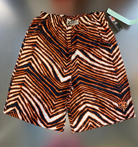 Chicago Bears NFL Youth Zubaz Lounge Shorts -Navy/Orange