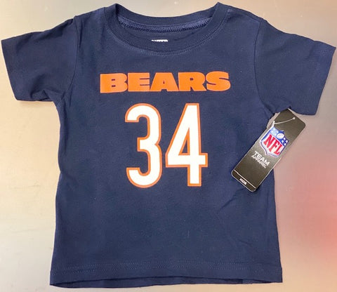 Chicago Bears Infant, Toddler's And Kids Payton #34 T-Shirt -Blue
