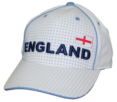 Men's England Hat White World Cup Cap Embroidered Football Soccer