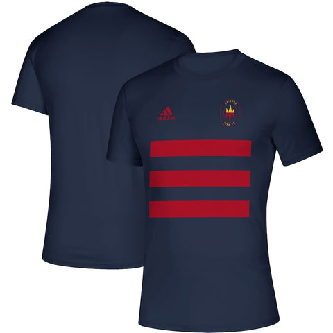 Chicago Fire Adidas Three-Stripe Life Pitch T-shirt