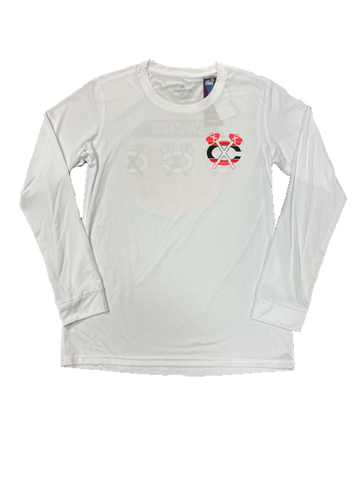 Chicago Blackhawks Women's Adidas AEROREADY Creator Tee Longsleeve Shirt - White
