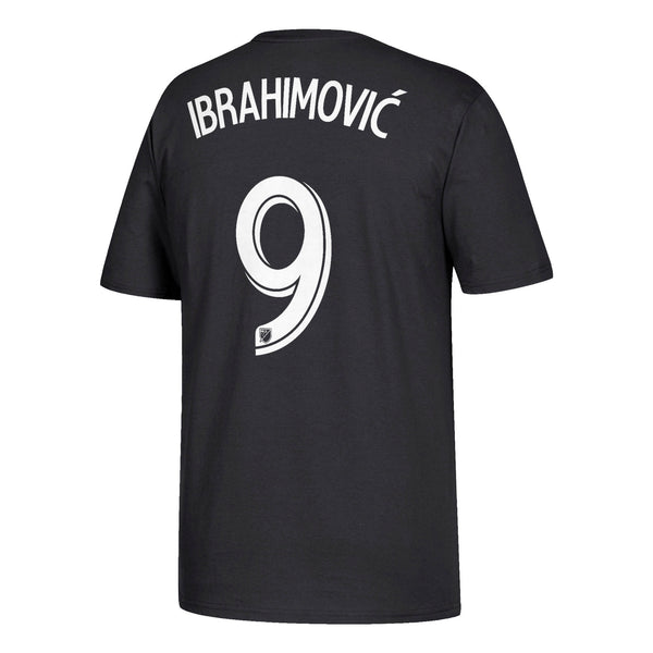 LA Galaxy Zlatan Ibrahimovic Black Men's Adidas Shirt Tee Number 9