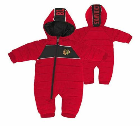 Chicago Blackhawks Newborn & Infant Puck Drop Puffer Bodysuit