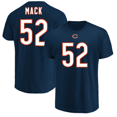 Chicago Bears Men's Khalil Mack Navy Name & Number T-Shirt
