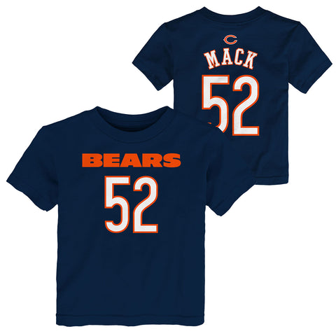 Chicago Bears Khalil Mack Infant, Toddler, and Kids Name and Number Tee
