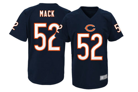 Chicago Bears NFL Team Apparel Youth Khalil Mack #52 Navy Performance Jersey