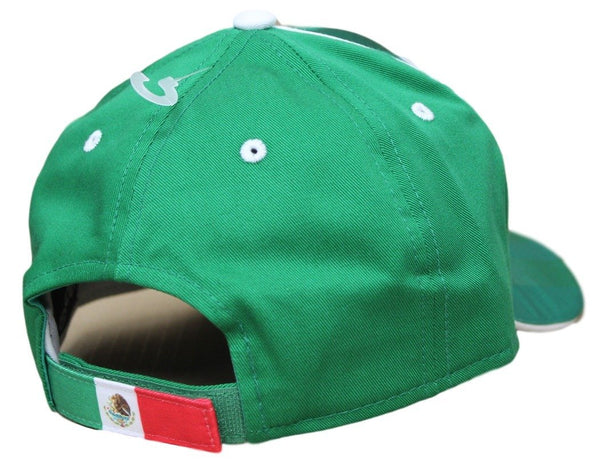 Men's Mexico Hat Green World Cup Cap Embroidered Football Soccer
