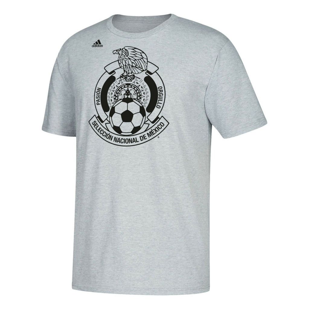 Mexico National Team adidas Gray National Team Crest World Cup 2018 T-Shirt