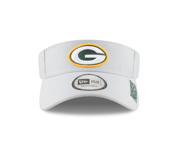 Green Bay Packers Mens New Era 2018 NFL Gray Training Camp Official visor