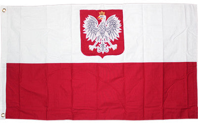 Poland Polish Old Poland with Eagle 2 Ply 300D Embroidered Flag New 3'x5'feet