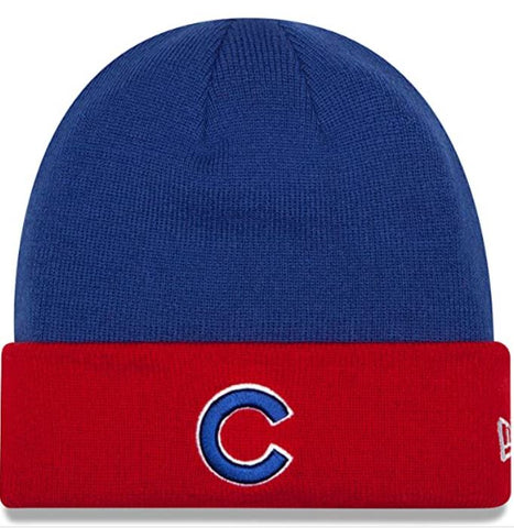 Chicago Cubs New Era Two Tone Cuffed Beanie Knit Hat - Royal Blue
