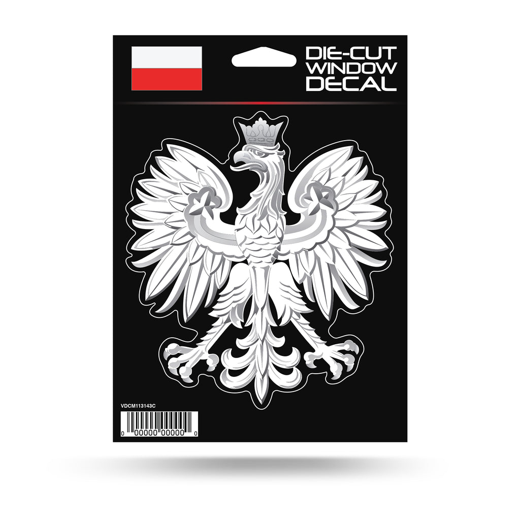 "Die-Cut Decal Polish Eagle Emblem of Poland Sticker 3"" x 4.5"""