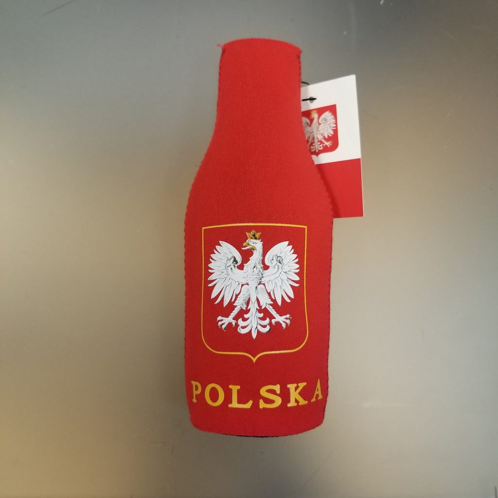 Poland Bottle Jacket Holder Polska Can Cooler Polish National Pride Flag Koozie