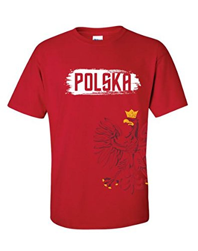Youth Polska Polish Crest Wrap Around Eagle T-shirt Polish Pride Short Sleeve