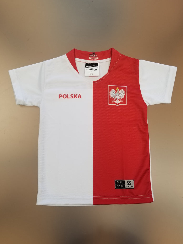 Youth Polska Plain Replica Euro '20 Soccer Jersey Made in Poland - White