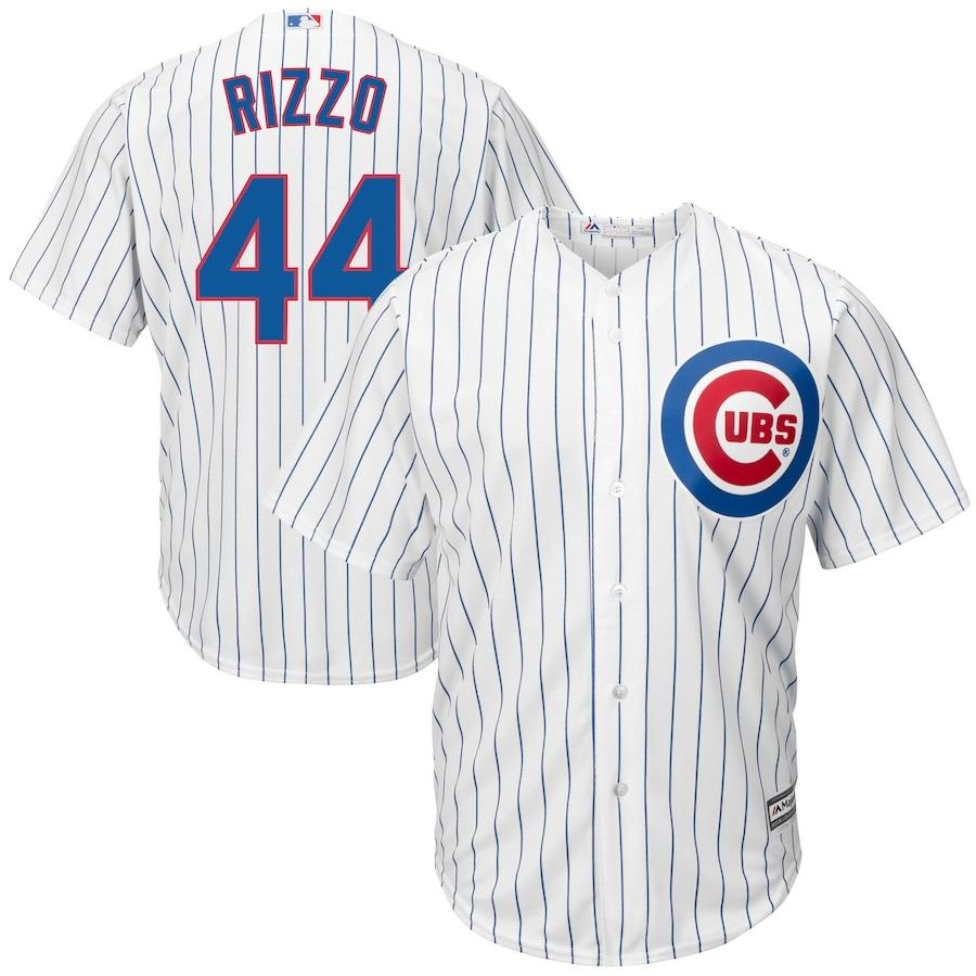 Chicago Cubs Youth Majestic MLB Anthony Rizzo #44 Cool Base Stitched Jersey - White