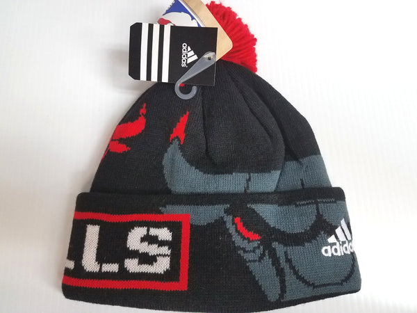 Chicago Bulls Youth 8-20 Adidas All Over Knit Hat Beanie Stocking Cap