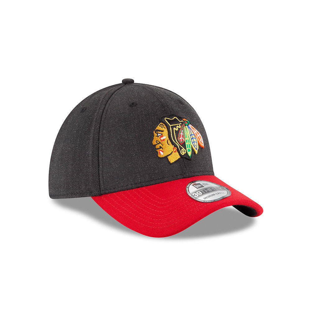 ... Chicago Blackhawks New Era 39THIRTY Change Up Classic Flex Fitted Hat  NHL Cap ... d4c8f92211e